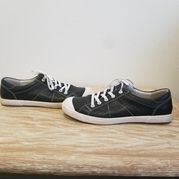 6169e0167067e Josef Seibel Shoes - Josef Seibel Lilo 13 Black Leather Sneakers